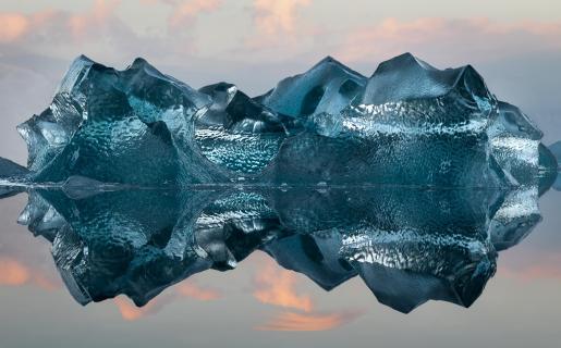 Eisberg in Gletscherlagune