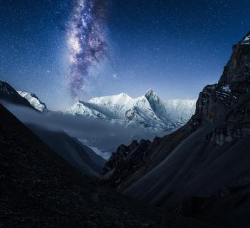 Annapurna Milchstraße Himalaya Nepal