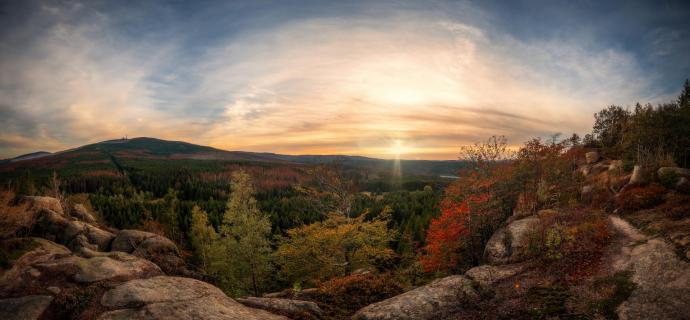 Herbst Sonnenuntergang