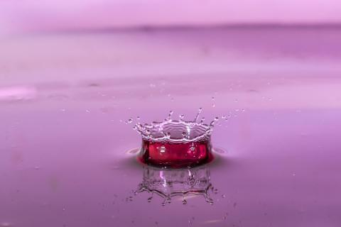 Wassertropfen Krone