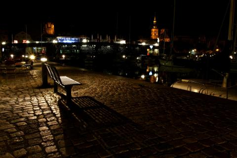 im alten Hafen von Stralsund