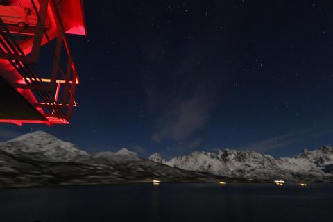 Backbord - Lofoten bei Nacht