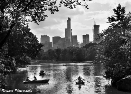 Boote am See im Central Park - New York City