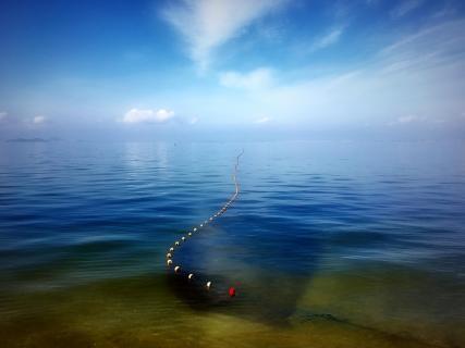 Fischernetz bis zum Horizont