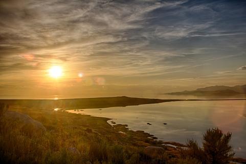 Sonnenuntergang über dem Salt Lake