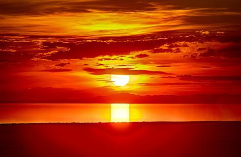 Salte Lake Sonnenuntergang 2