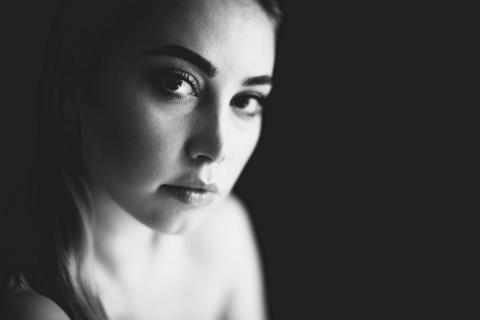 black and white Portrait 1