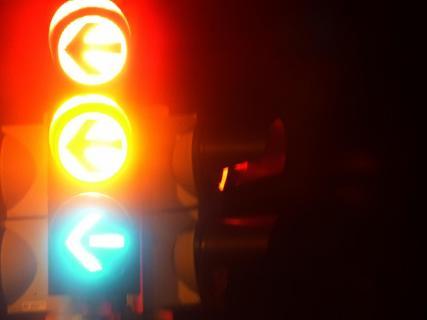 Ampel im Dunkeln