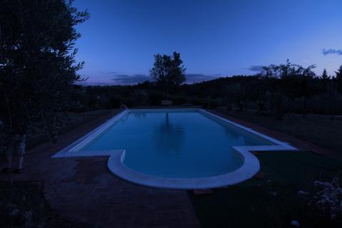 zur blauen Stunde am Pool