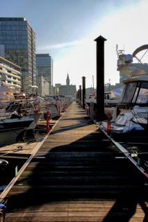 Yachthafen Köln mit Kranhäuser