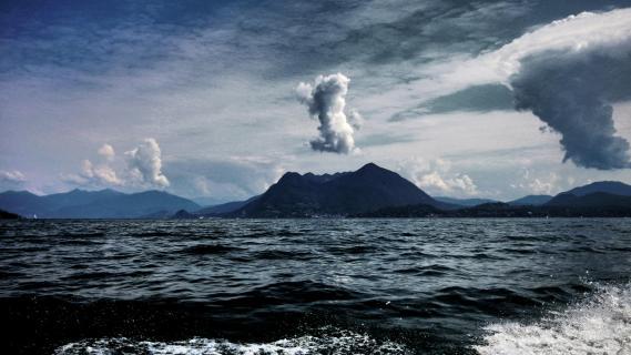 grandiosen Wolkenstimmung