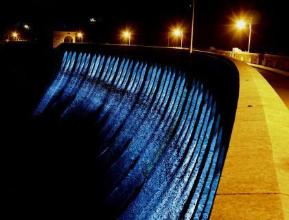 """Blaue Stunde"" an der Staumauer"