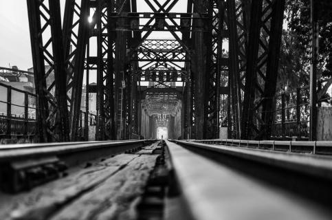 Lennard Kehl Lonely man on the bridge