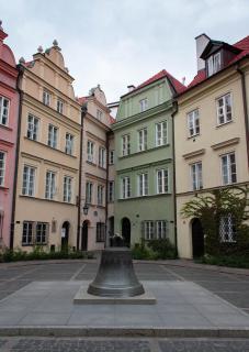 Farbenfrohe Häuser in Krakau, Polen
