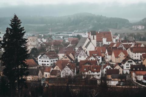 Nebeliger Blick über die Schwäbische Alb