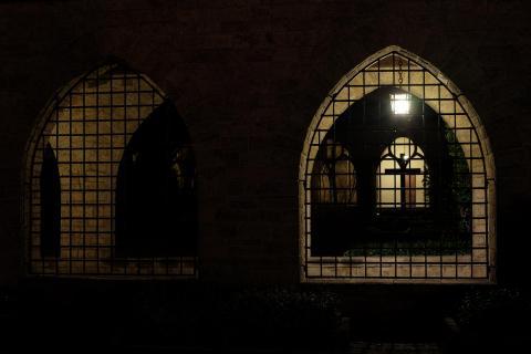 Nachts im Essener Münster-Dom