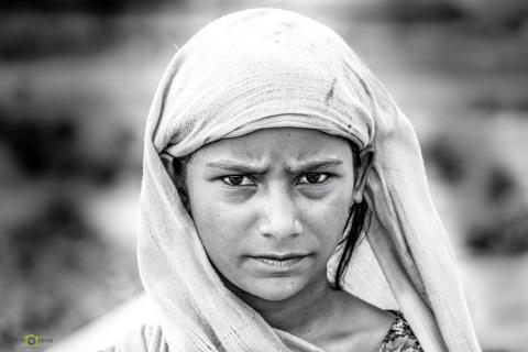 Mädchen in den Slums von Indien