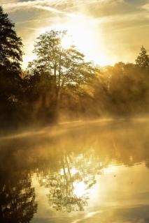 Herbstlicher Sonnenaufgang