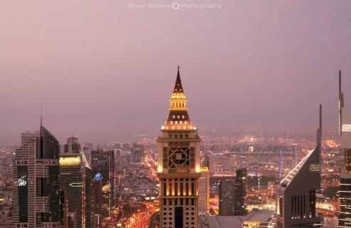 Dubai city lights