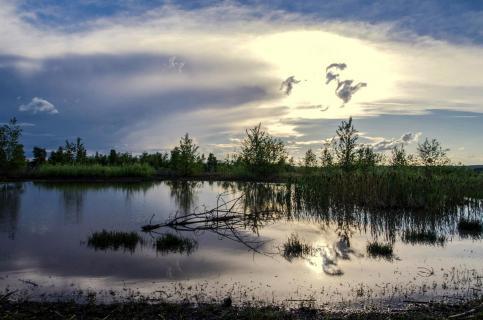 02- Spiegelung im Wasser -angela sundheim -Himmelsspiegel