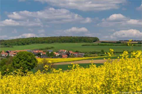 Der Blick zum Dorf