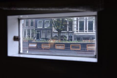 Blick aus einem Hausboot
