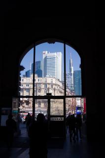 Der erste Blick auf Frankfurt Main