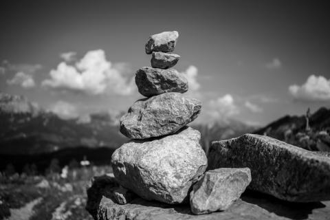 Steine in den Alpen