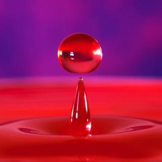 roter Wassertropfen