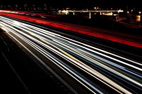 A2 (Lipperland Nord) bei Nacht