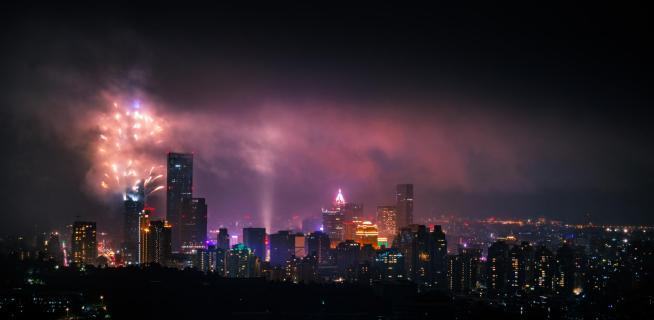 Neujahrsfeuerwerk Taipeh