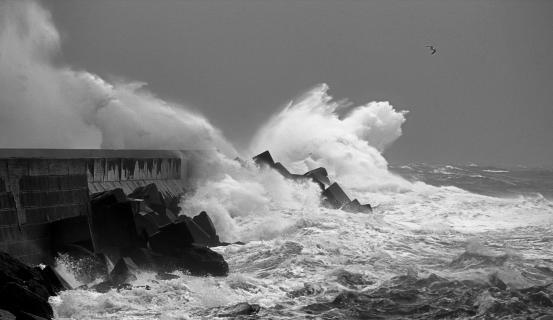 Helgoland bei Sturm