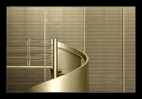 flight of winding stairs