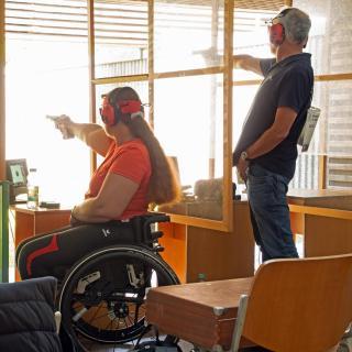 Behinderten Wettkampf
