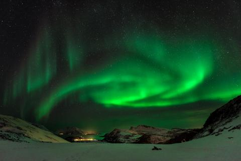 Nordlichter über Skullfjord