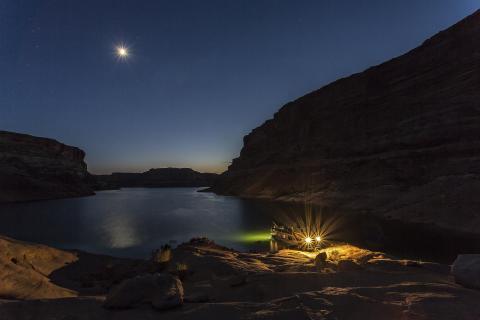Vollmondnacht am Lake Powell