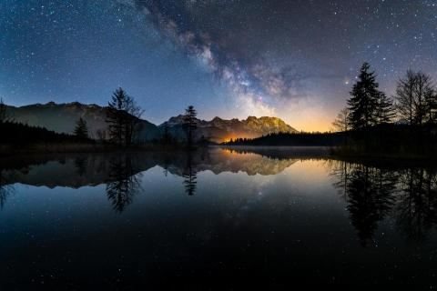 Sternenklare Nacht am Barmsee