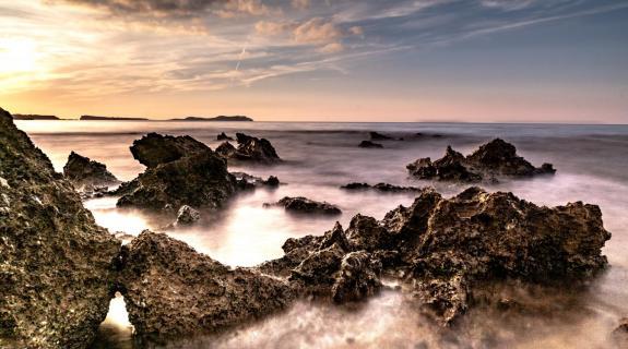Langzeitbelichtung auf Ibiza