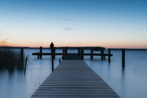 Blaue Stunde am Fleensee