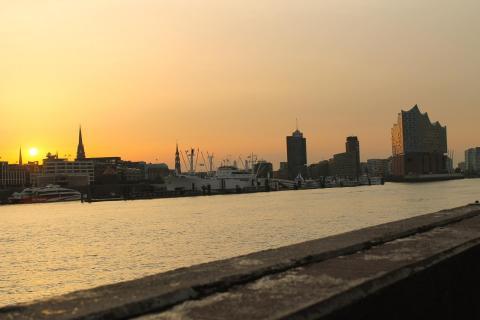 Hamburg ,Sunset