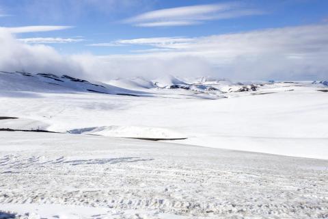 Schneelandschft; Laugavegur