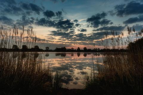 kurz vor Sonnenaufgang am St. Leoner See