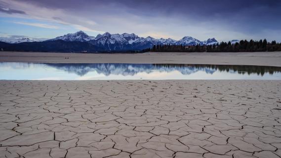 Spiegel in der Wüste