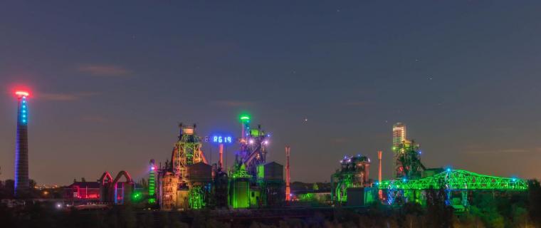 Nachtaufnahme Landschaftspark Duisburg 1