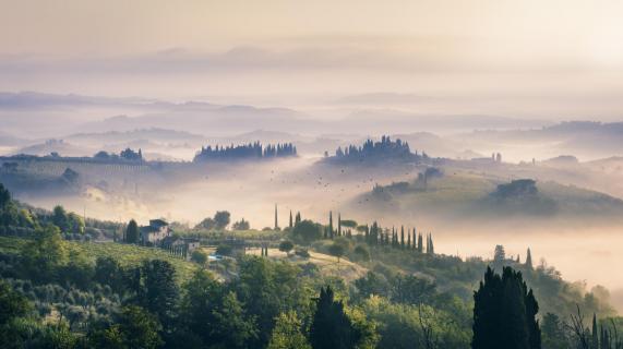 Guten Morgen San Gimignano