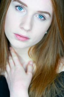 Beauty with Red Hair and blue Eyes