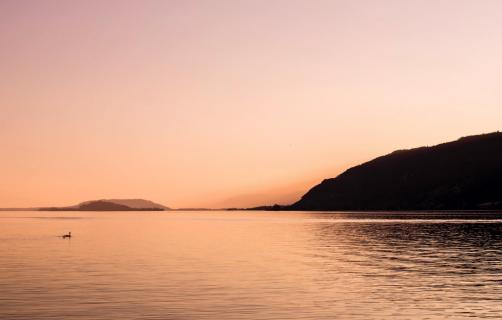 Sonnenuntergang, Landschaftsaufnahme