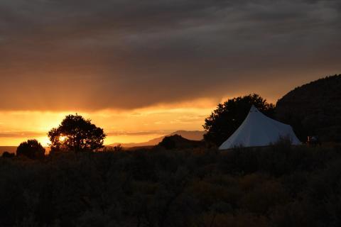 Sunset at Zion Canyon