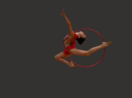 Gymnastik mit Reifen