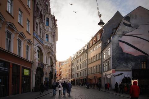 Sonnenuntergangsstimmung in Riga